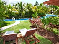 Garden in the holiday resort in the Caribbean