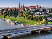 Grunwaldzki Bridge in Cracow (Poland)
