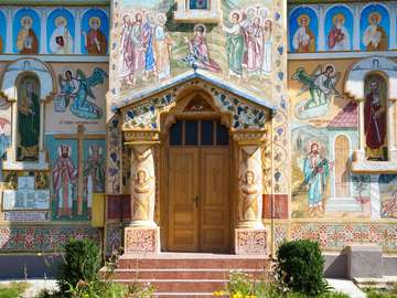 Orthodox church in the province of Hunedoara (Romania)