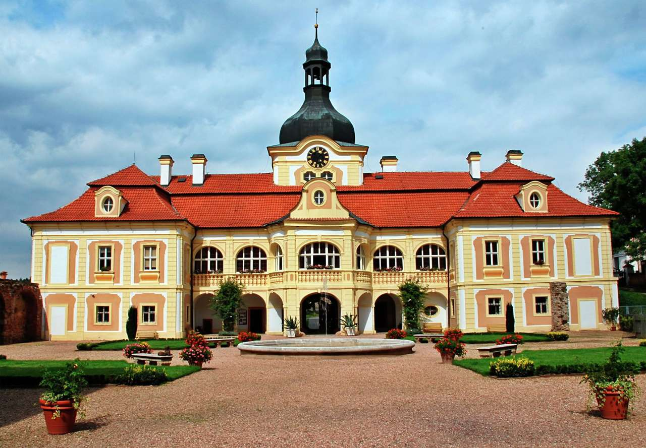 Nebílovy Baroque Castle near Pilsen (Czech Republic) - A beautiful eighteenth-century aristocratic residence and at the same time a Baroque masterpiece is located in the Czech village of Nebílovy near the city of Pilsen. The construction of the palace be (8×5)