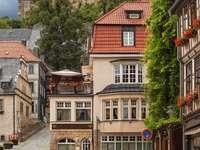 Dlážděná ulice v Blankenburgu (Německo)