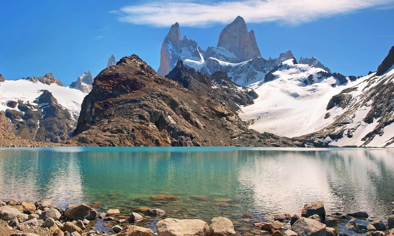 Mount Fitz Roy (Argentina) - Patagonia is a geographical region located in the southern part of South America. Its areas are situated between the Pacific and Atlantic Oceans and extend to Chile and Argentina. Patagonia was discov (9×6)