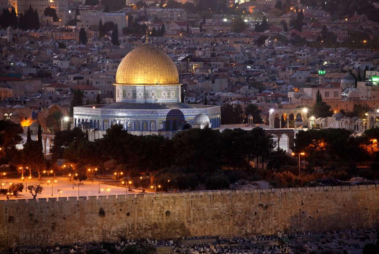 Tempelberget i östra Jerusalem (Israel)