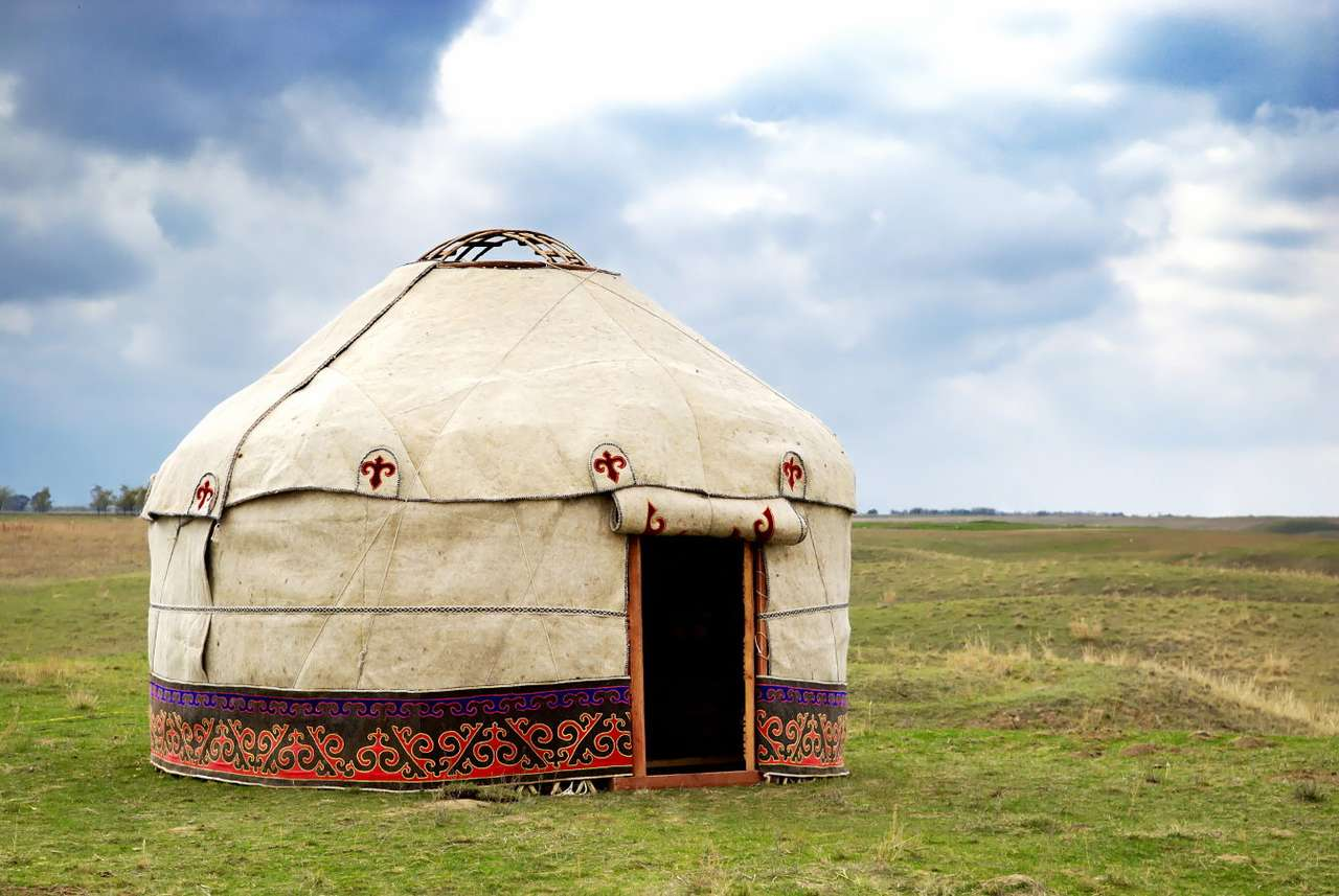 Yurt in the desert - Yurt is a popular name referring to tents of the nomadic peoples of the Eurasian Steppe (the area of a steppe belt extending from the mouth of the Danube, through Europe to eastern Asia). The natural (7×5)