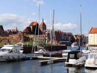 Marina in the center of Gdańsk (Poland)