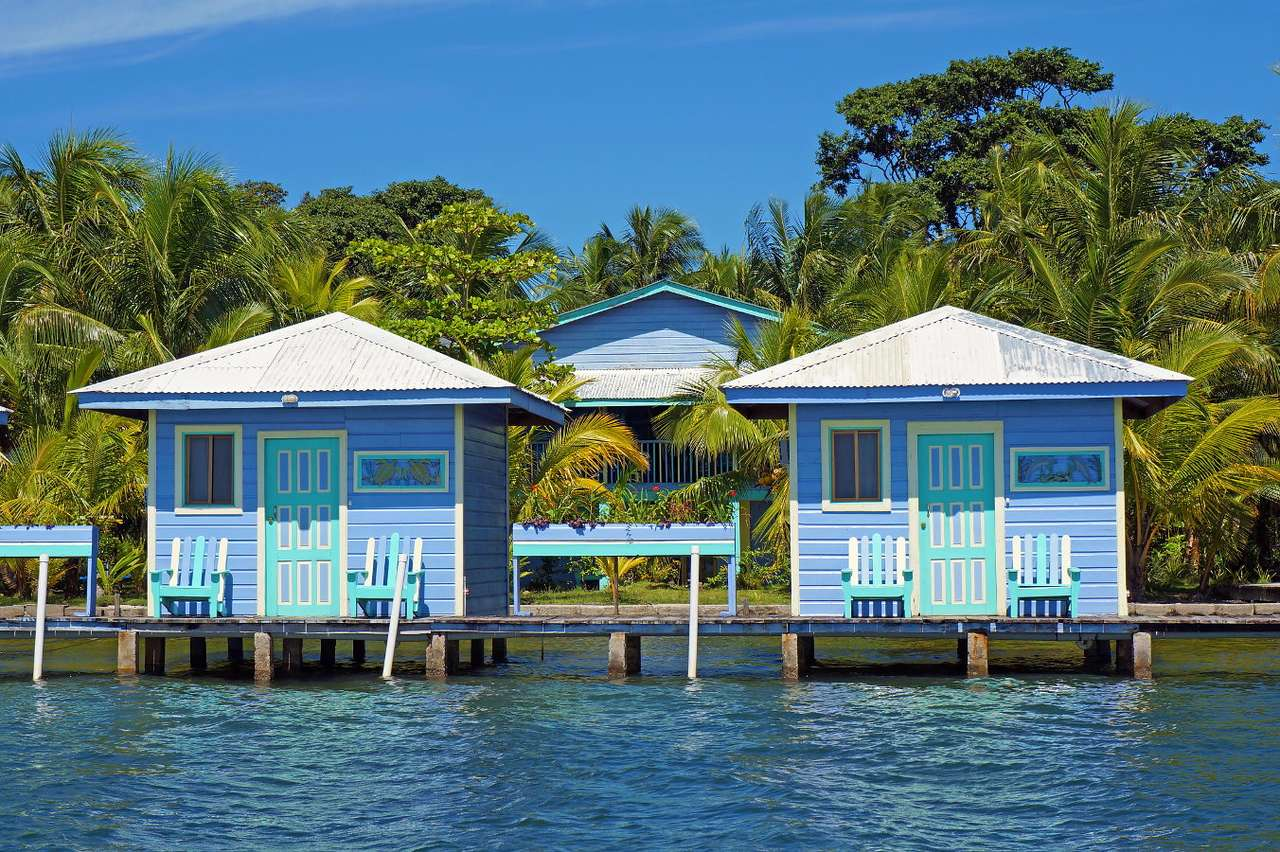 Wooden houses on stilts in Bocas del Toro (Panama)