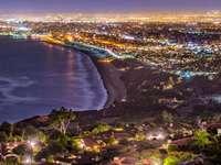 Los Angeles coast seen from Rancho Palos Verdes (USA)