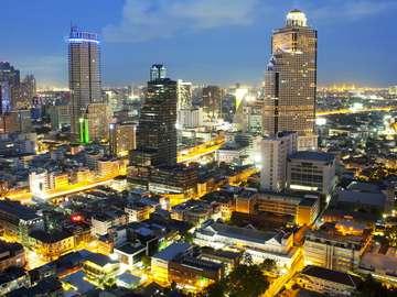 Skyscrapers in Bangkok (Thailand)