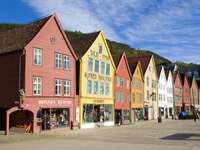 Hanzovní budovy v Bergenu (Norsko)
