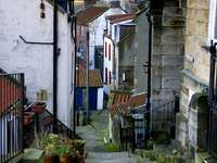 Street in Staithes (United Kingdom)