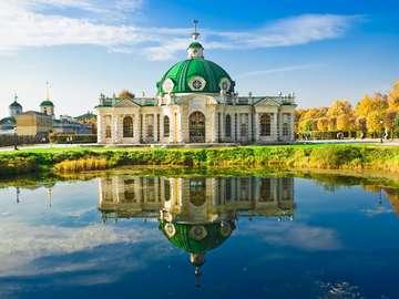 Grotto pavilion in Kuskovo (Russia)