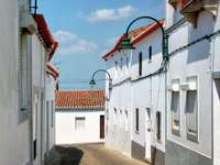 Street in the town of Serpa (Portugal)