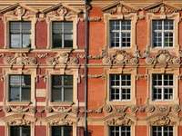 Decorated façades in Lille (France)