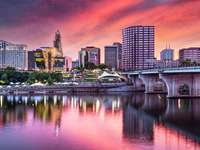 Business district in Hartford (USA)