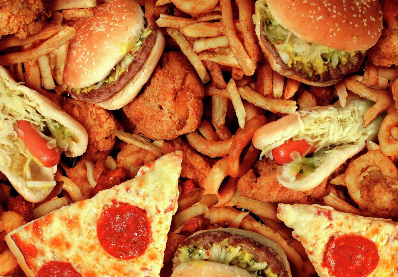 Beliebtes Fast Food Online-Puzzle