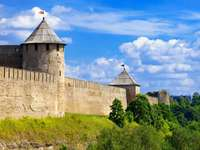 Fortress in Ivangorod (Russia)
