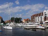 Marina in Gdansk (Poland)