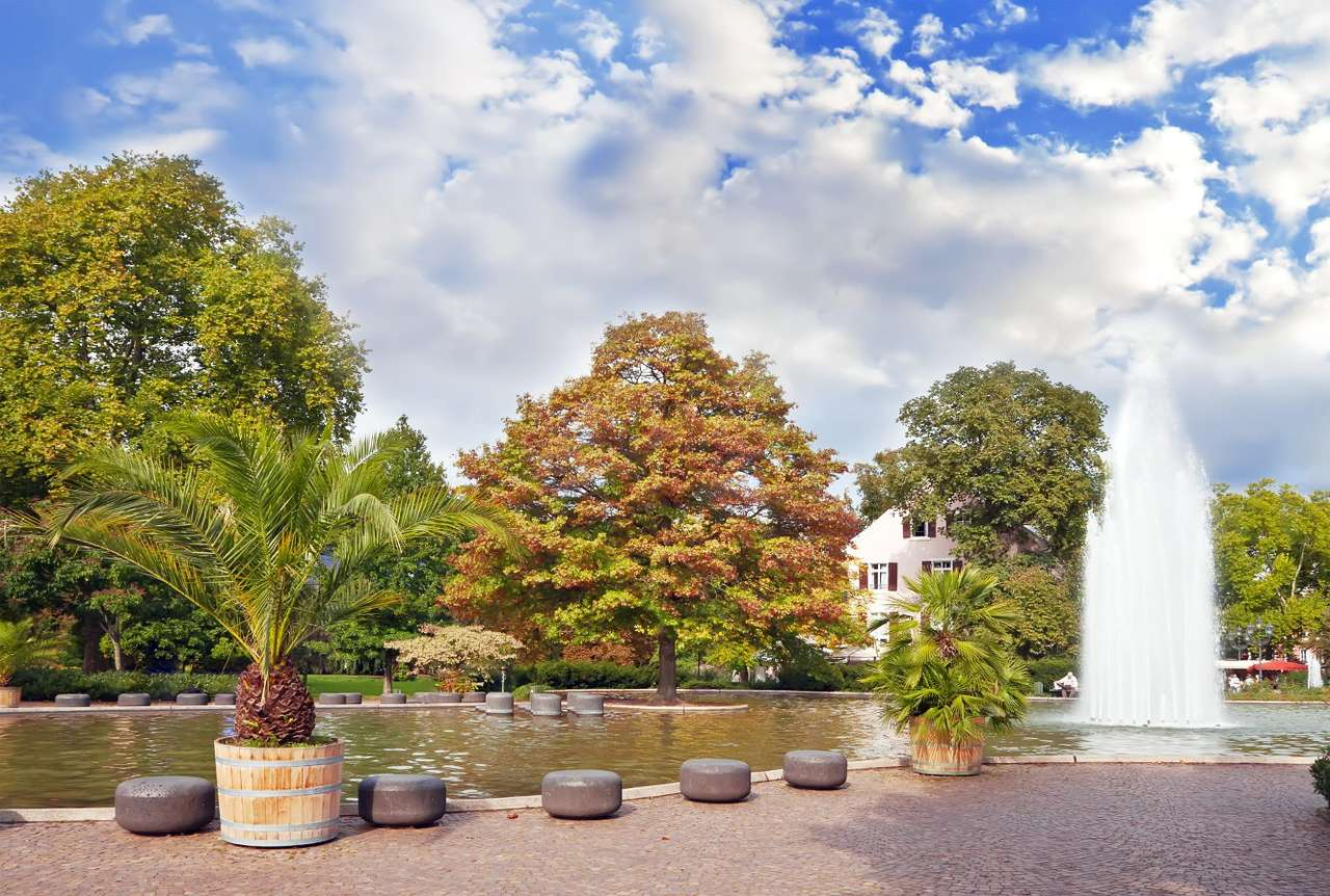 Park in Baden-Baden (Germany) - The spa town of Baden-Baden is located in the southern part of Germany on the river Oos. Since the end of the 18th century Baden-Baden has been known as the summer capital of Europe and gained popular (10×7)