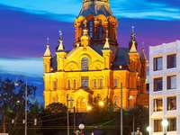 Cathedral of the Dormition of Our Lady in Helsinki (Finland)