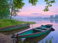 Boats on the Narew river (Poland)