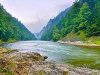 Dunajec river in the Pieniny (Poland)