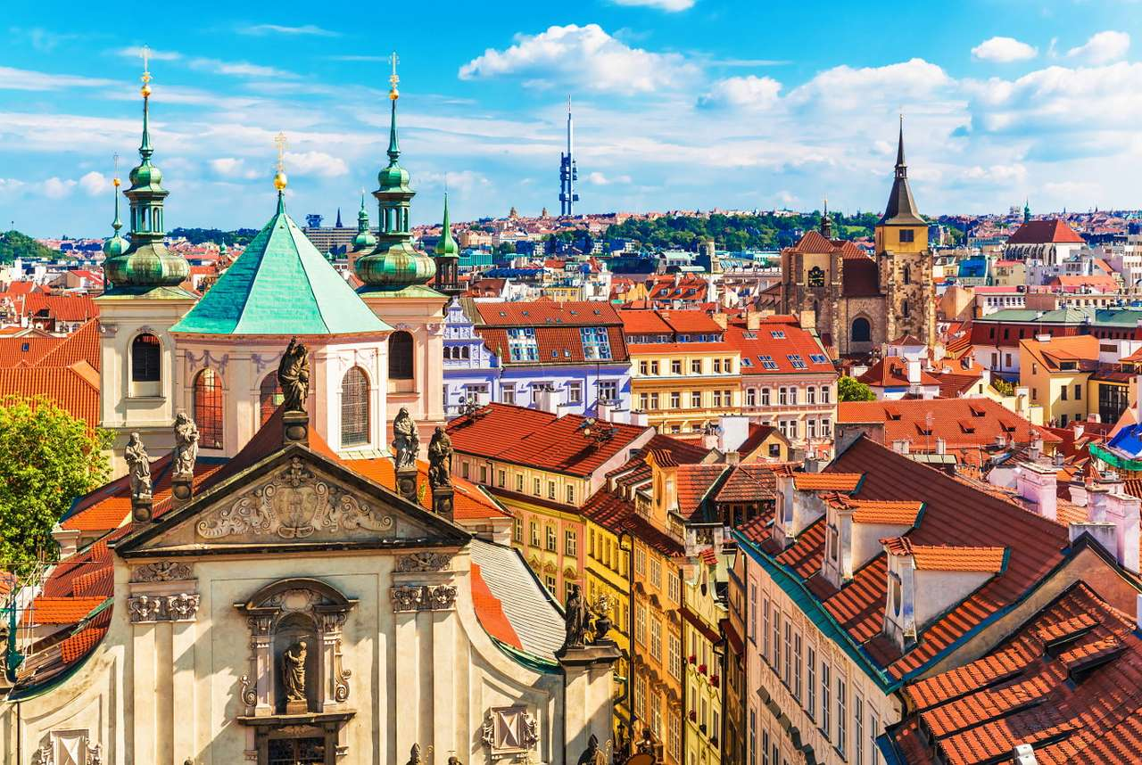 Tenement houses in old town of Prague (Czech Republic)