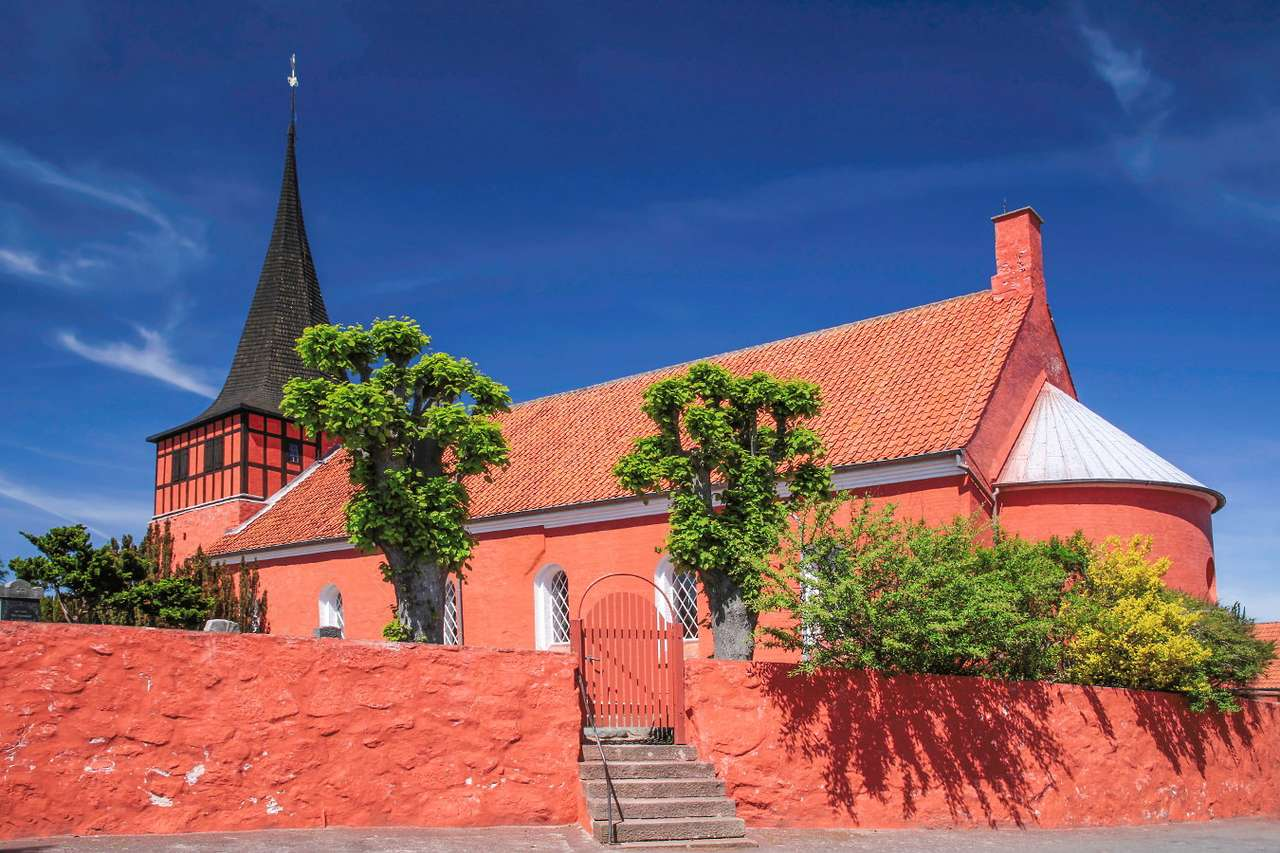 Red Svaneke Kirke church (Denmark)