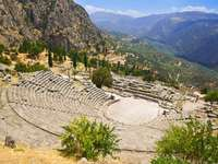 The ancient theater at Delphi (Greece)