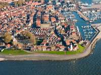 View of the town of Urk (Netherlands)