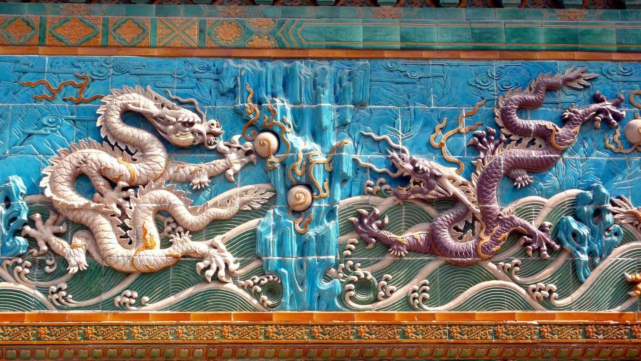 Il Muro dei Nove Draghi nel Parco Beihai (Cina) puzzle