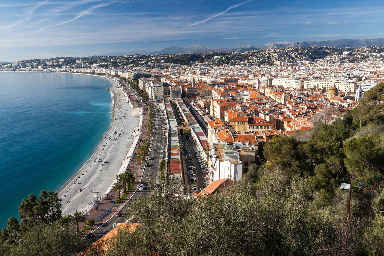Costa Azzurra dalla collina del castello di Nizza (Francia)