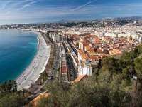 French Riviera from the Castle Hill in Nice (France)
