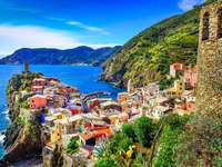 Colorful town of Vernazza (Italy)