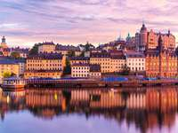 Panorama of Old Town in Stockholm (Sweden)