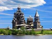 Iglesia de la Transfiguración en la isla de Kizhi (Rusia)