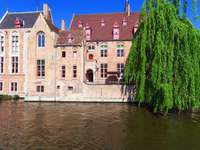 Dijver canal in Bruges (Belgium)