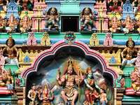 Colorful facade of the Sri Veeramakaliamman Temple (Singapore)