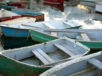 Wooden boats in Rockport (USA)