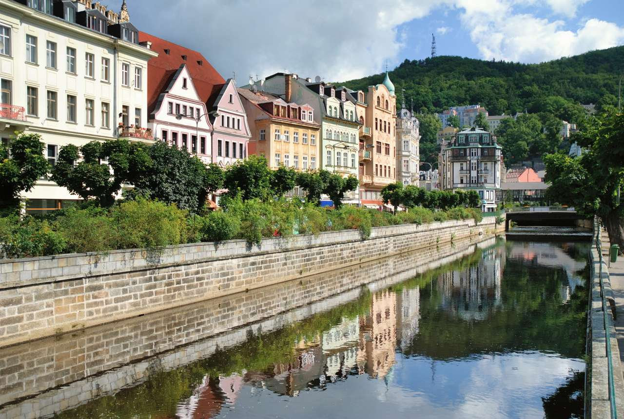 Karlovy Vary (Czech Republic) - Karlovy Vary lies in the west of the Czech Republic and is the most famous Czech spa. The river Ohře and its three tributaries flow through the town. One of them is the river Teplá, forming a kind o (9×6)