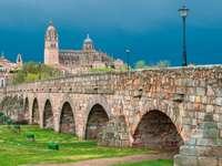 Roman bridge in Salamanca (Spain)