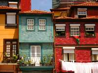 Colorful houses in Porto (Portugal)