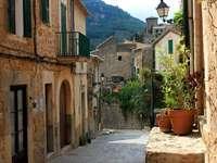 Street in the village of Valldemossa (Spain)