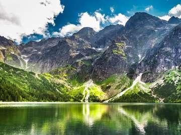 Morskie Oko in the Tatra Mountains (Poland)
