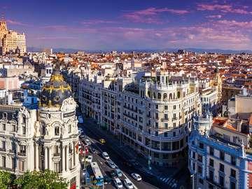Gran Via Street in Madrid (Spain)