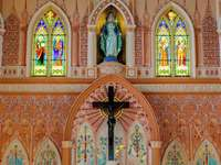 Interiér katolického kostela