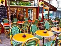 Typisch Parijse eetcafe (Frankrijk) puzzel van foto