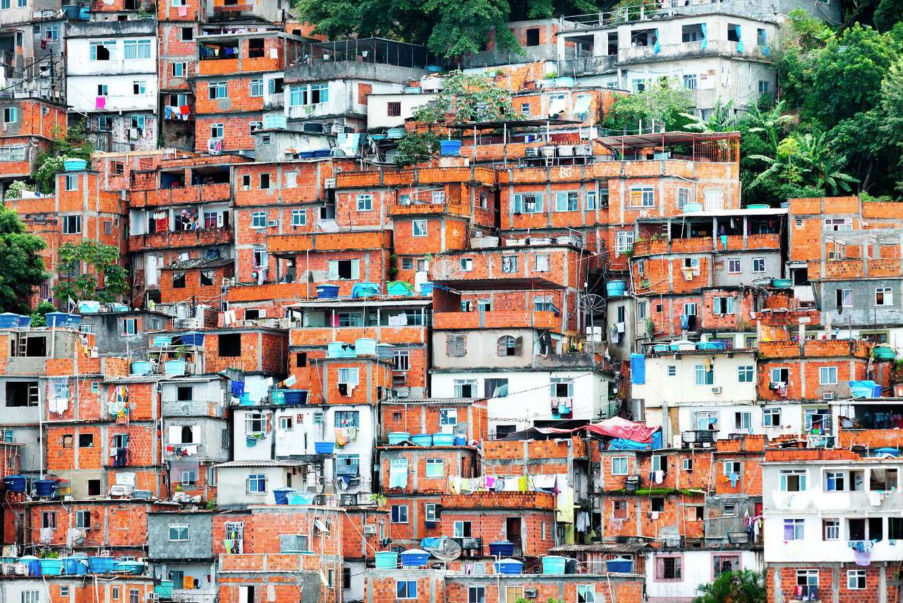 Favela in Rio de Janeiro (Brazil) - The areas surrounding Rio de Janeiro and inhabited by the poorest are called favelas. They were built on the outskirts of the city as early as in the 19th century, when the unemployed war veterans and (18×11)