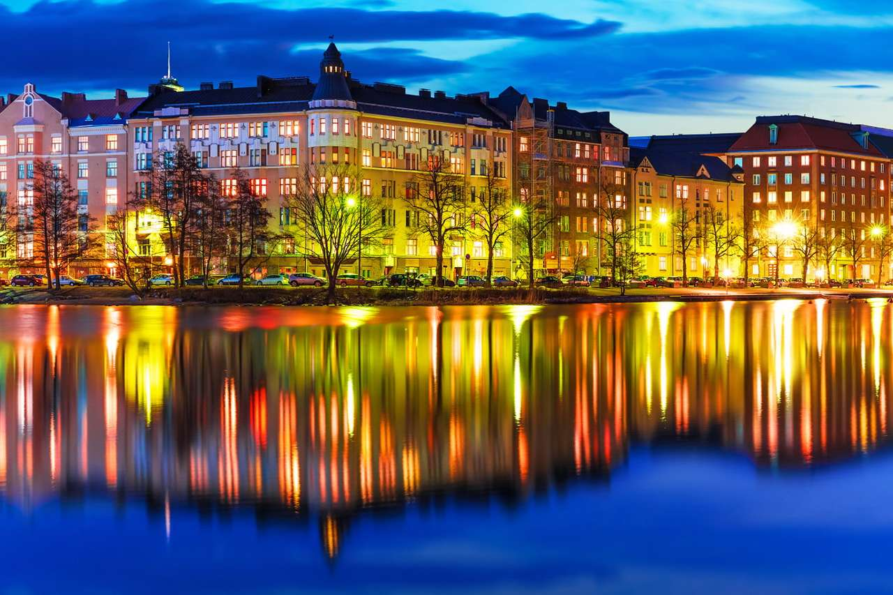 Waterfront in Helsinki (Finland) - Helsinki is the capital of Finland. The city lies in the southern part of the country, on the Gulf of Finland. It was founded by king Gustav I of Sweden in 1550. The administrative borders of Helsinki (10×6)