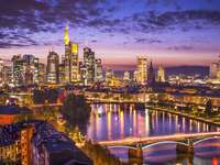 The business district in Frankfurt (Germany)