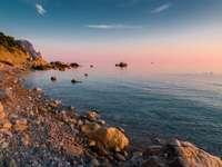 Sunset on the Crimean coast